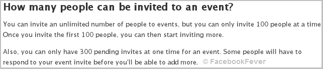 invite people to an event facebookfever How Many Facebook User You Can Invite To An Event?