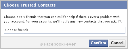 set trusted contacts On Facebook1 facebookfever How To Set Your Trusted Contacts On Facebook?