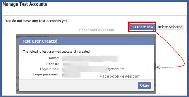 facebook-test-account
