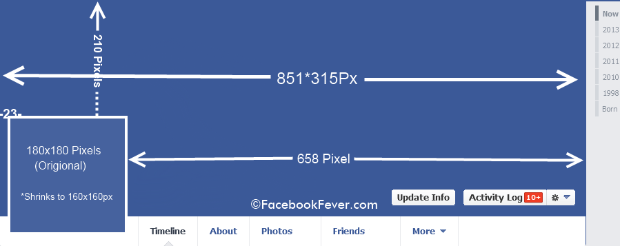 facebook cover photo size facebookfever Facebook Image Dimensions And Size   Facebook Cheat Sheet