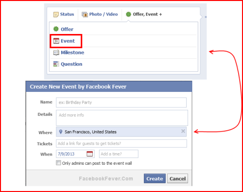 facebook page event facebookfever How To Create Event Through Facebook Fan Page?
