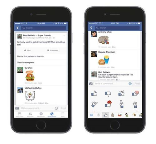 Facebook Stickers Now Available In Comments Across Platform